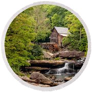 The Grist Mill Round Beach Towel