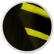 The Guggenheim Color Collection In Black Yellow Round Beach Towel