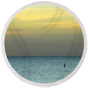The Gulf Of Mexico Round Beach Towel