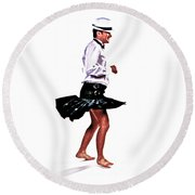 Round Beach Towel featuring the photograph The Happy Dance by Xn Tyler