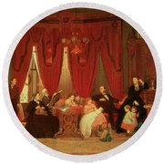 The Hatch Family Round Beach Towel