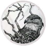 The Hawk Round Beach Towel