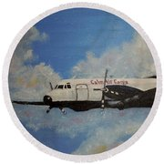 The Hawker Round Beach Towel by Marilyn  McNish