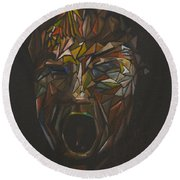 The Head Of Goliath - After Caravaggio Round Beach Towel