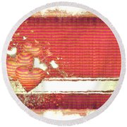 Round Beach Towel featuring the digital art The Heart Knows by Liane Wright