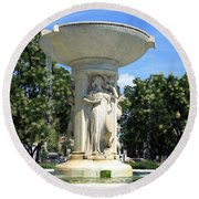 The Heart Of Dupont Circle Round Beach Towel by Cora Wandel