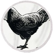 The Hen Round Beach Towel