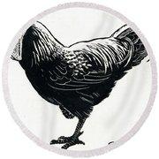 The Hen Round Beach Towel by George Adamson