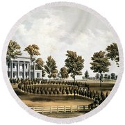 The Hermitage, Jacksons Tomb And Andrew J. Donelsons Residence, 12 Miles From Nashville Tennessee Round Beach Towel