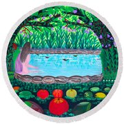 The Hidden Water Round Beach Towel