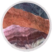 The Hill Of Seven Colors Argentina Round Beach Towel