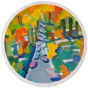 The Hill Round Beach Towel