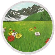 The Hills Are Alive With The Sound Of Music Round Beach Towel