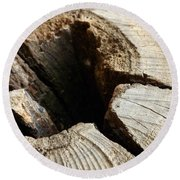 Round Beach Towel featuring the photograph The Hole by Clare Bevan