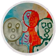 The Hollow Men 88 - Study Of Three Round Beach Towel