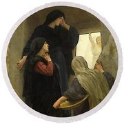 The Holy Women At The Tomb Round Beach Towel by William Bouguereau