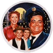 The Honeymooners Round Beach Towel