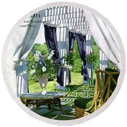 The Horsts Garden Round Beach Towel