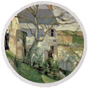 The House And The Tree, C.1873-74 Round Beach Towel