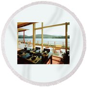 The House Of Mr. And Mrs. Alfred Rose On Lake Round Beach Towel