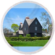 The House Of The Seven Gables Round Beach Towel