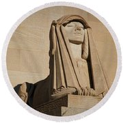 The House Of The Temple Sphinx #2 Round Beach Towel
