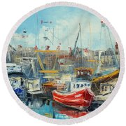 The Howth Harbour Round Beach Towel