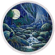 The Hunt For The Wolfman Round Beach Towel