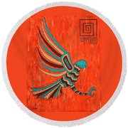 The Hunter Round Beach Towel by Susie WEBER