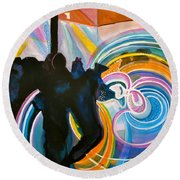 The Illuminated Dance Round Beach Towel