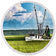 The Jc Coming Home Round Beach Towel by Patricia Greer