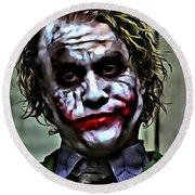 The Joker Round Beach Towel by Florian Rodarte