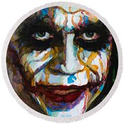 The Joker - Ledger Round Beach Towel by Laur Iduc
