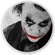 The Joker Round Beach Towel by Robert Bateman