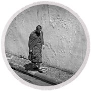 Round Beach Towel featuring the photograph The Journey  by Lucinda Walter