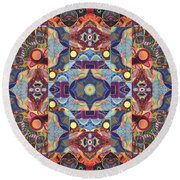 The Joy Of Design Mandala Series Puzzle 1 Arrangement 1 Round Beach Towel