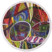 The Joy Of Design X Round Beach Towel