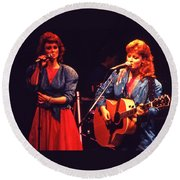 Round Beach Towel featuring the photograph The Judds by Mike Martin