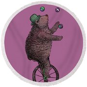 The Juggler Round Beach Towel