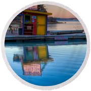 The Kayak Shack Morro Bay Round Beach Towel