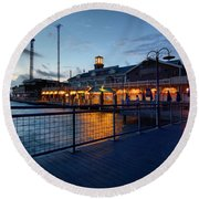 The Kemah Boardwalk Round Beach Towel