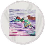The King Canvasback Round Beach Towel
