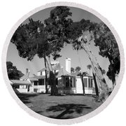 Round Beach Towel featuring the photograph The Kingsley Plantation by Lynn Palmer