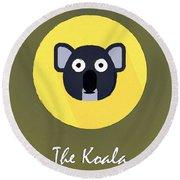 The Koala Cute Portrait Round Beach Towel