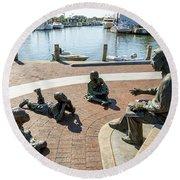 The Kunta Kinte-alex Haley Memorial In Annapolis Round Beach Towel