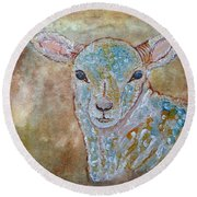 the Lamb Round Beach Towel