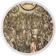 The Lamb Of God Appears On Mount Sion, 1498  Round Beach Towel