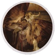 The Lament For Icarus Round Beach Towel by Herbert James Draper