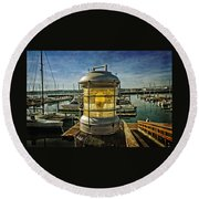 The Lamp At Embarcadero  Round Beach Towel