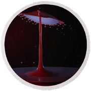 Round Beach Towel featuring the photograph The Lamp by Kevin Desrosiers